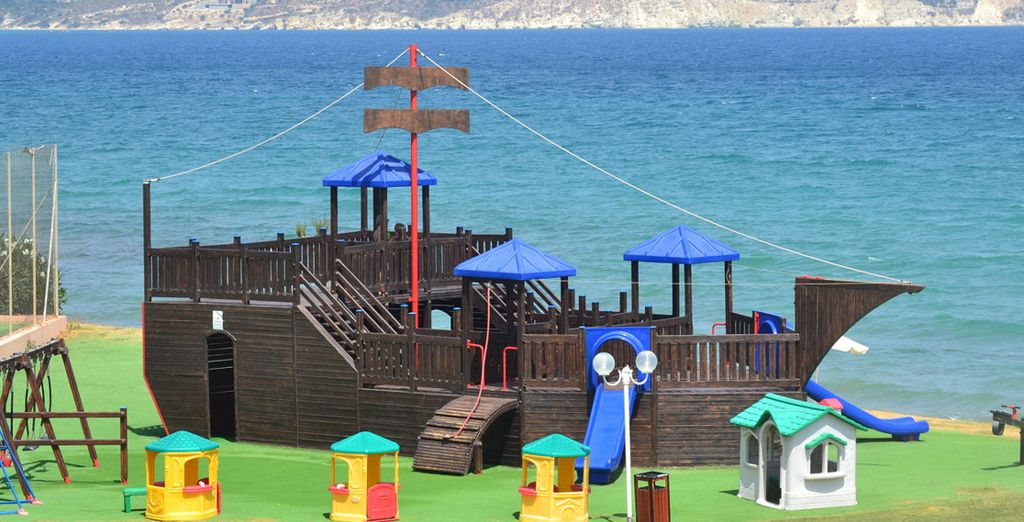Including a pirate ship shaped playground!
