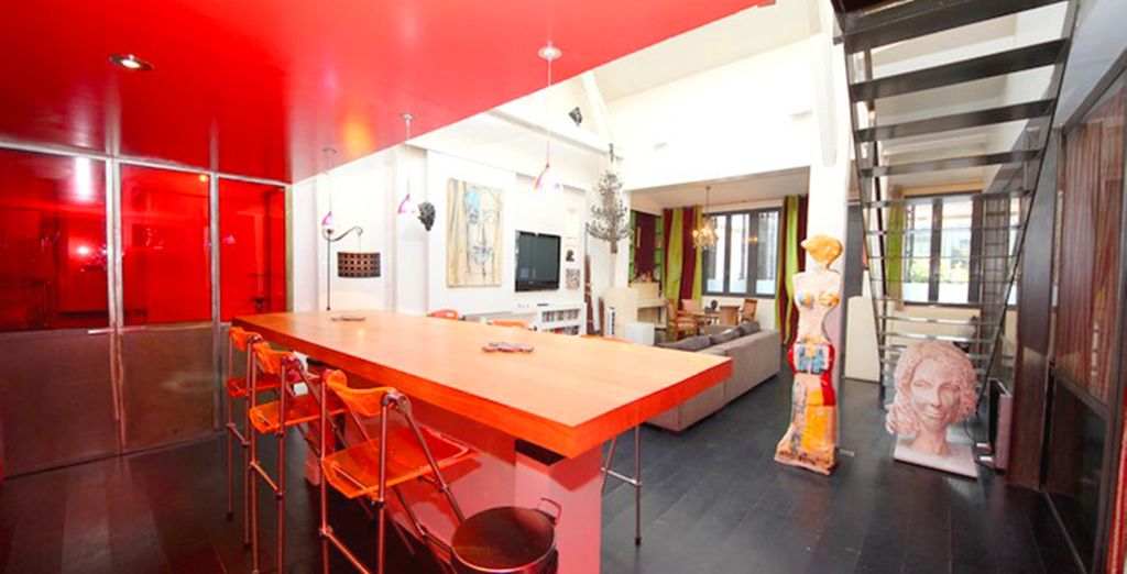 With open space living for a social atmosphere