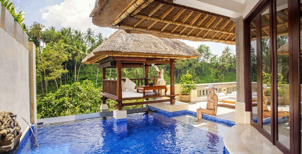 Overlooking the spectacular scenery of Ubud, the  Terrace Villa invites you to escape