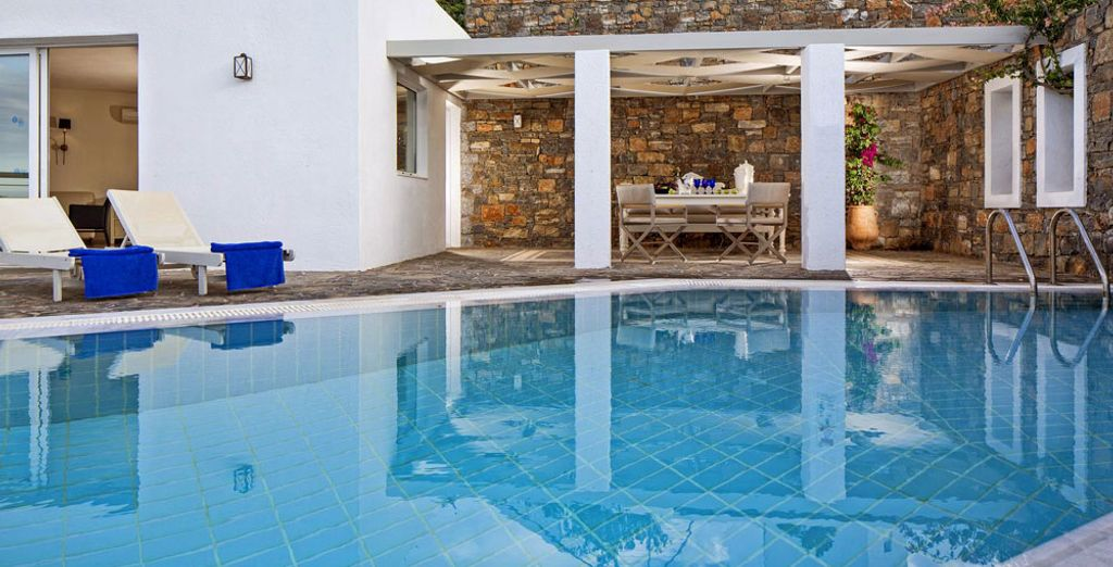 The Imperial Spa Pool Villa has a Spa and a private pool!