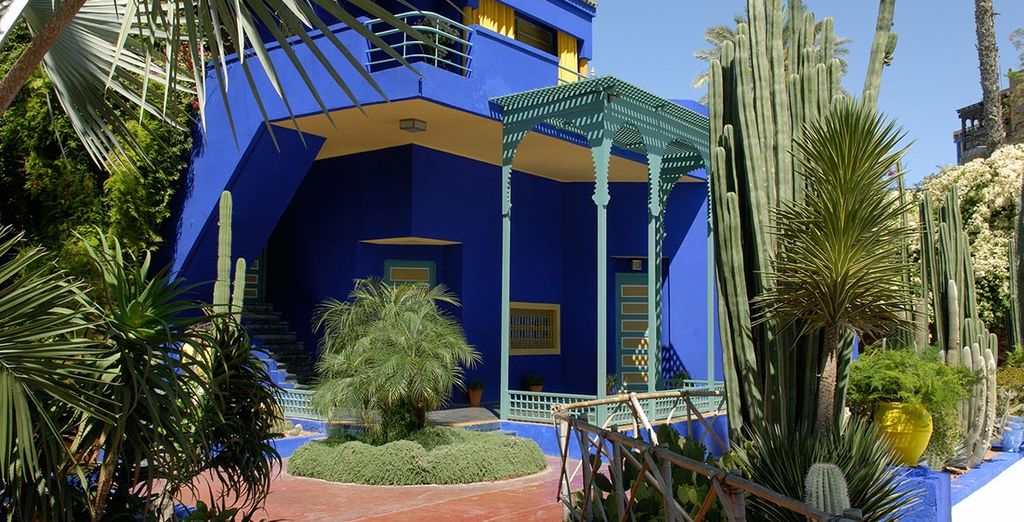 Or head to the Majorelle gardens located 750 metres away