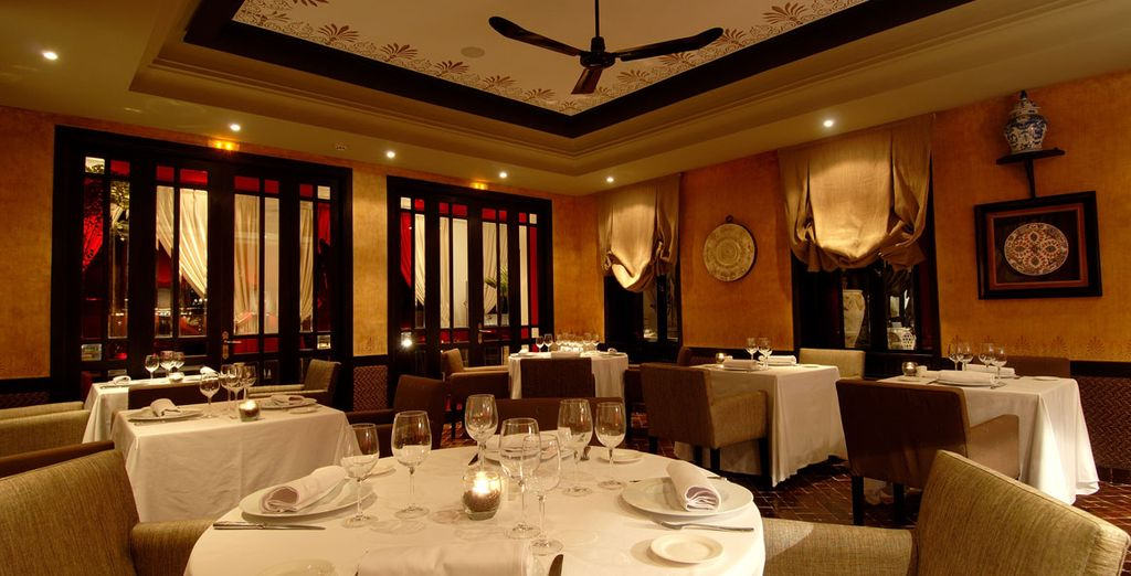 Then head to the restaurant to enjoy a meal in a cosy atmosphere