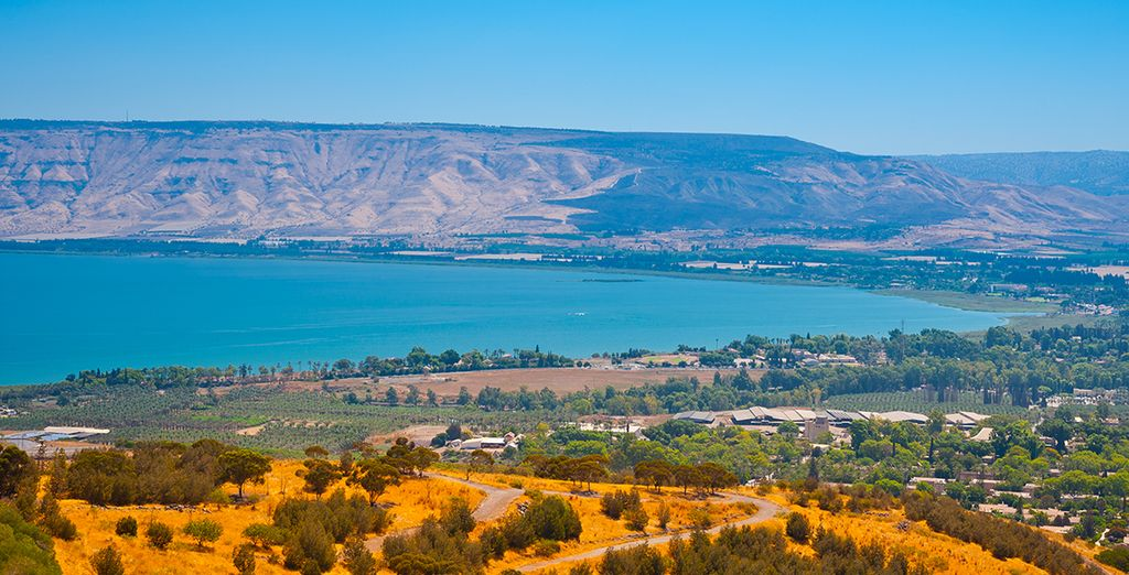 Drink in spectacular vistas (pictured: Sea of Galilee)