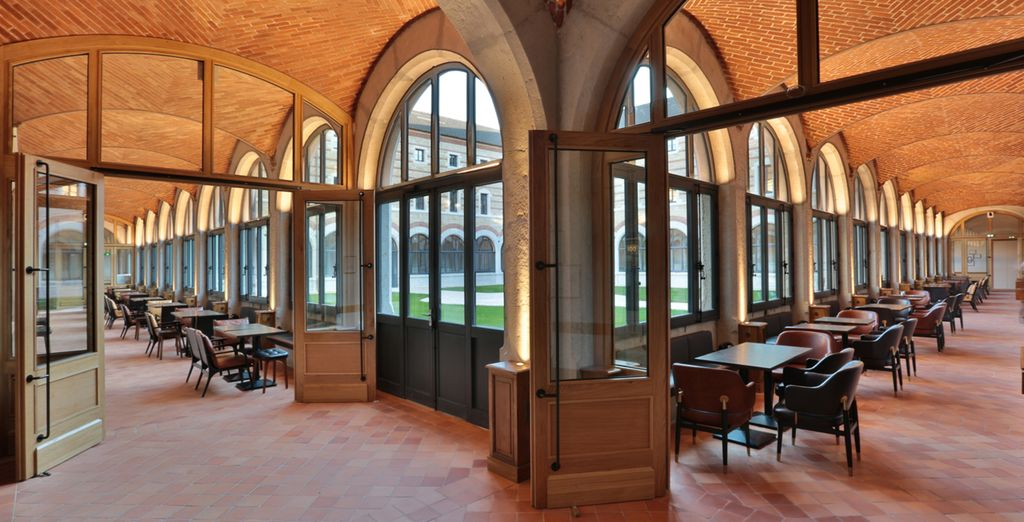 Then set out and explore the beautifully restored interiors of Hotel Fourviere