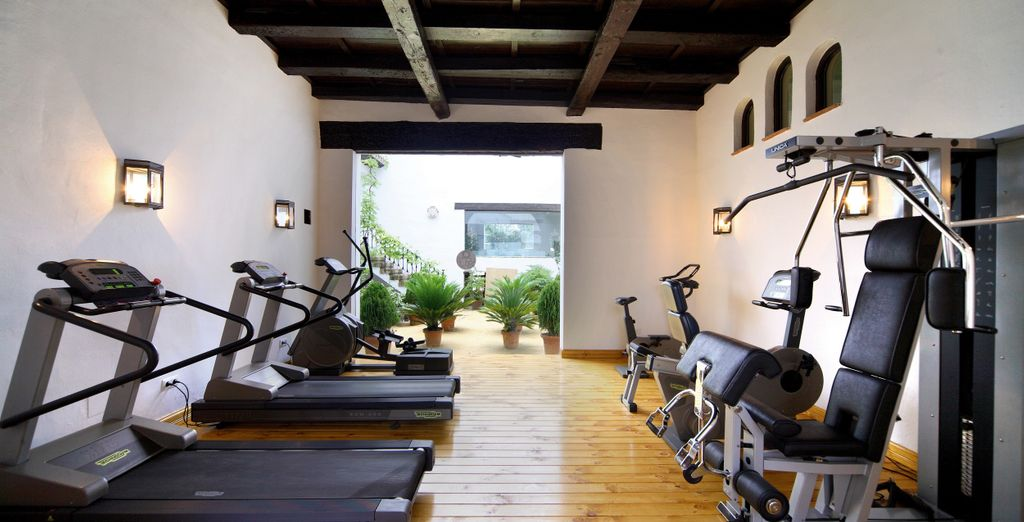 Take advantage of the state-of-the-art fitness equipment to stay in shape