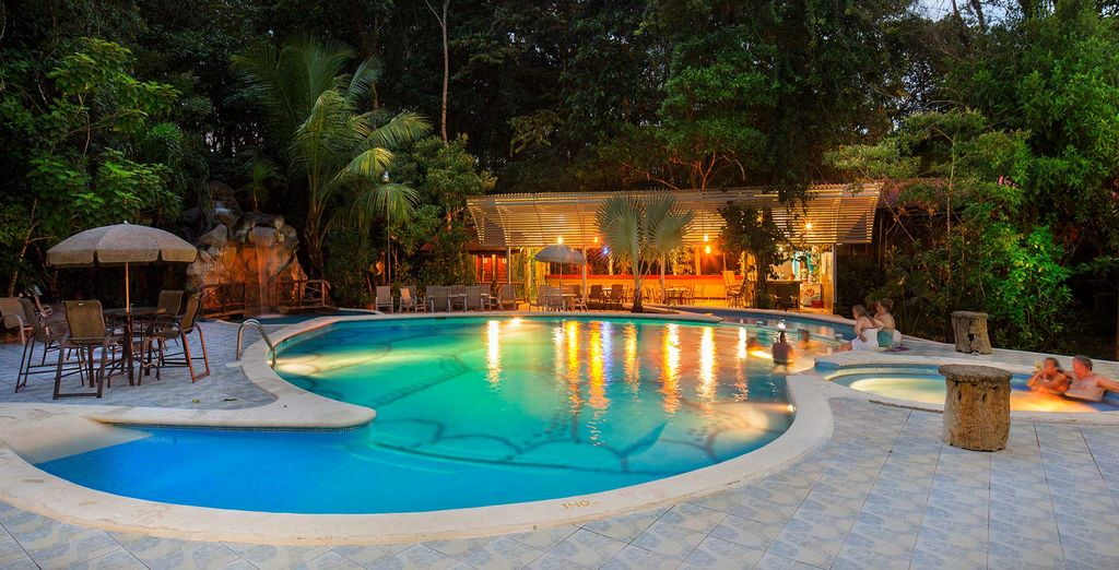 Evergreen Lodge Hotel in the Tortuguero Nation Park in Costa Rica
