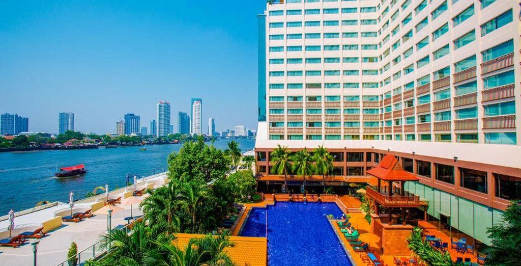 You will spend 2 nights at the Ramada Plaza Menam Riverside