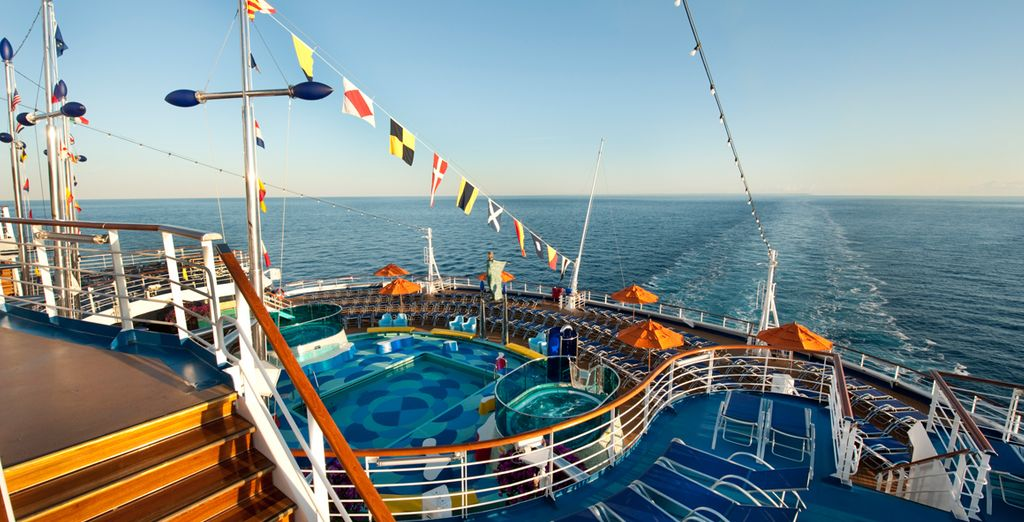 Take in the sea air as you cruise