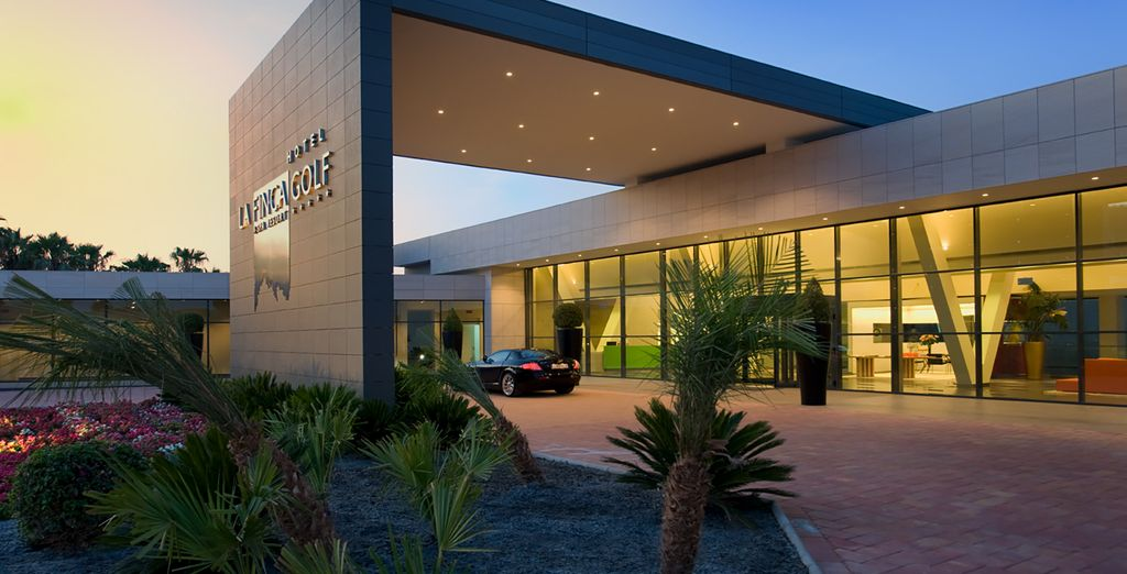 A striking modern resort