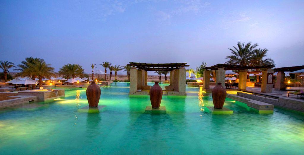 Boasting five different swimming pools