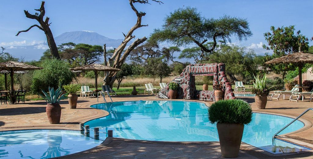 With comfortable facilities and magnificent views (Amboseli pictured)