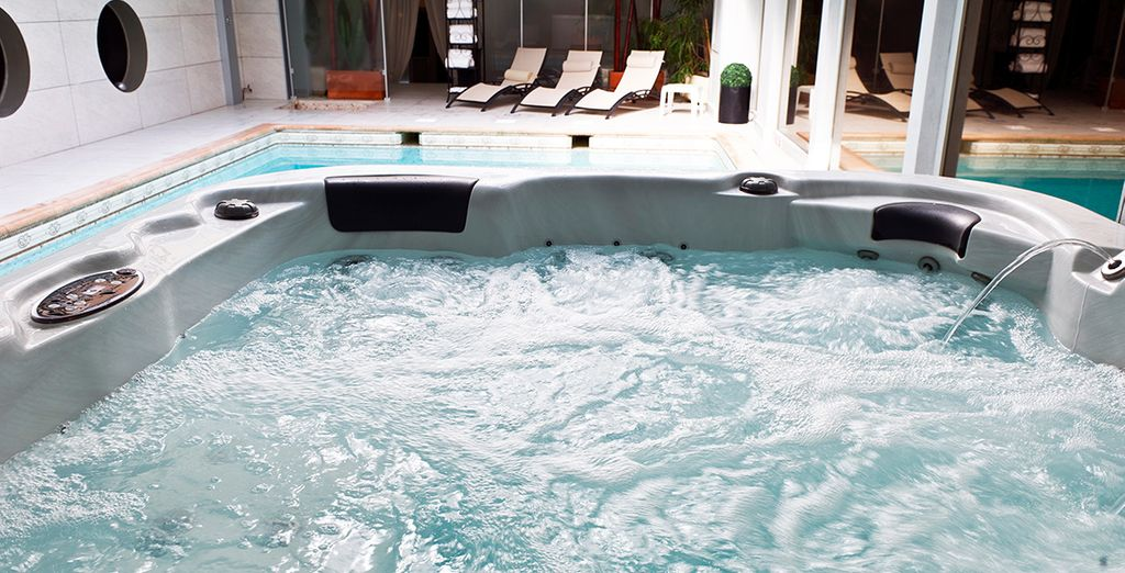 Soak in the bubbles or opt for a treatment!