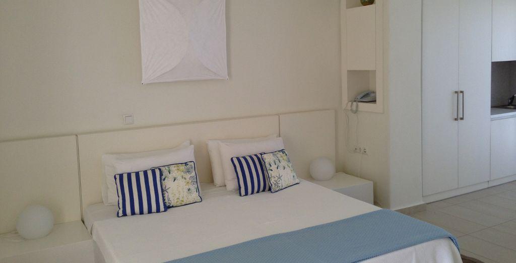 Sleep in a chic, minimalist Standard Room
