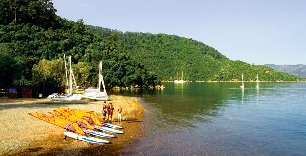 With a selection of watersports from windsurfing to wakeboarding, water-babies will be in paradise!