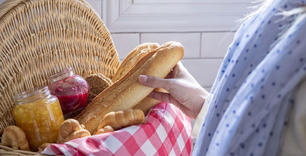 You enjoy a delicious breakfast each morning