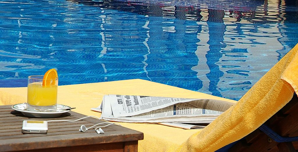 Chill out by the pool with a good book