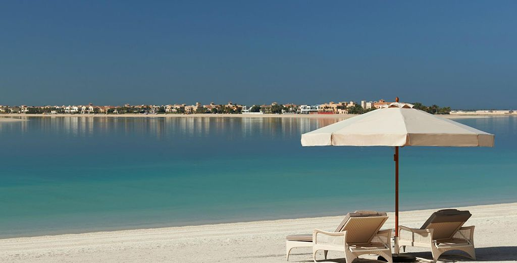Boasting a private soft-sanded beach