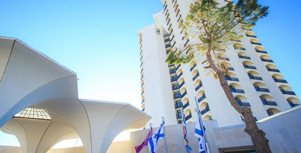 You'll stay in incredible hotels, starting from Crowne Plaza - Jerusalem