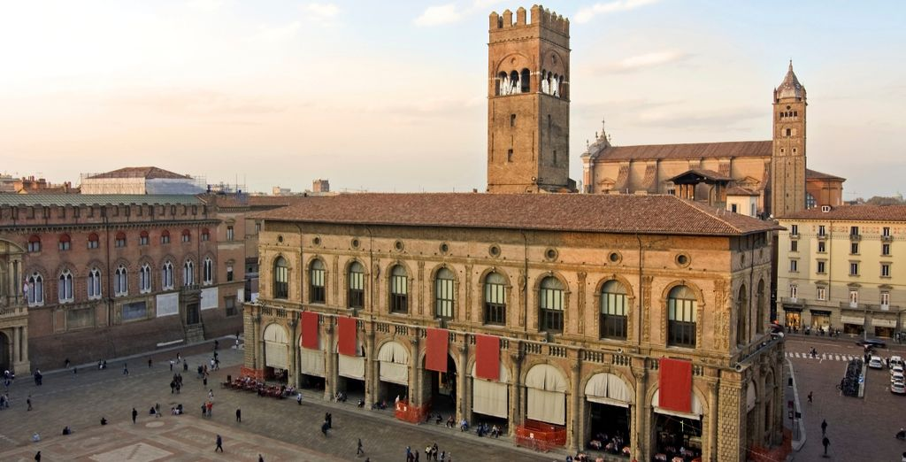 Head out and relish the city's 15th century square, Piazza Maggiore