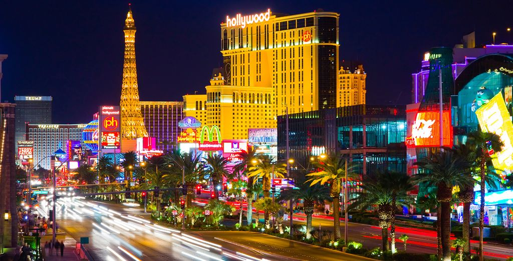On the famous Las Vegas Strip you'll be close to the action