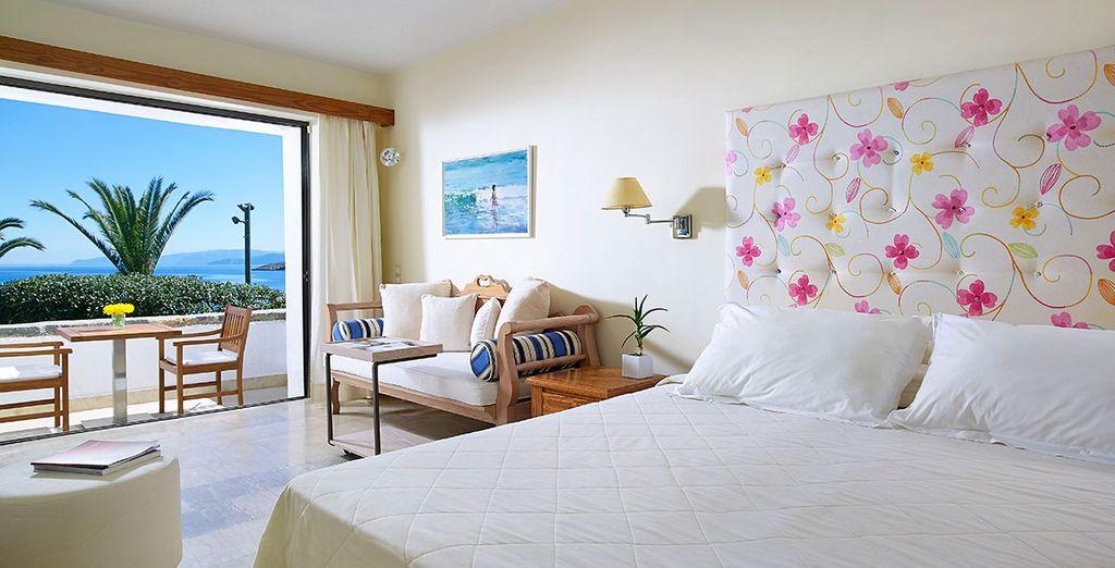 Enjoy a sea view room...