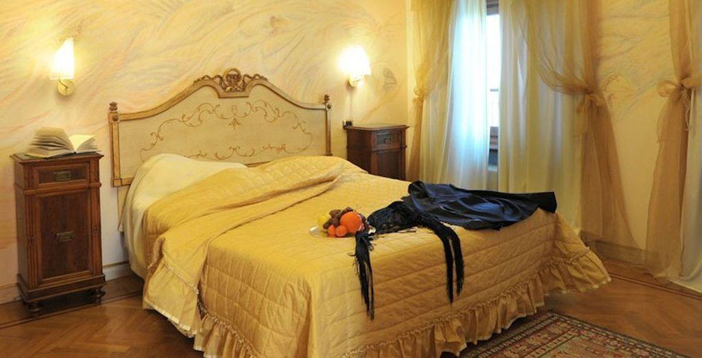 Where the rooms evoke a sense of classic Italian charm