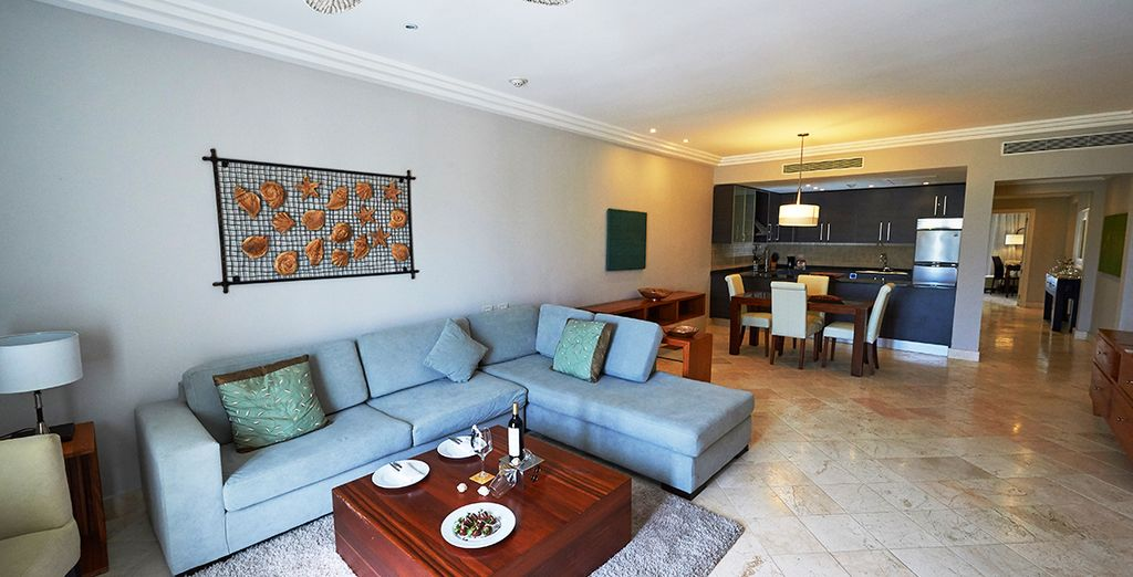 Your suite at Alsol Luxury Village is bright and spacious
