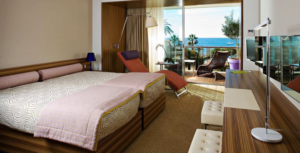 Your Prestige Room comes with a terrace offering sea views