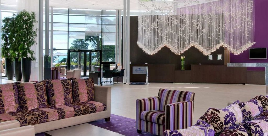 Which features contemporary interiors