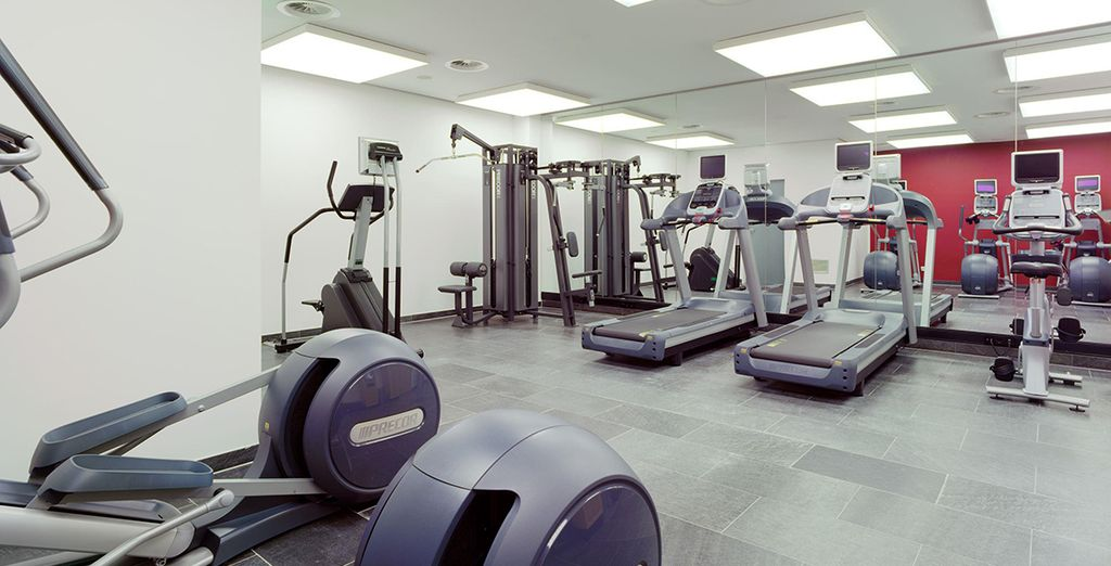 Work up an appetite at the 24 hour fitness centre