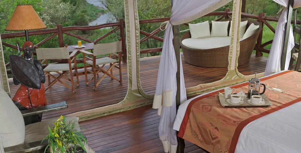 You will stay in a Luxury Tent at the Ashnil Mara Camp
