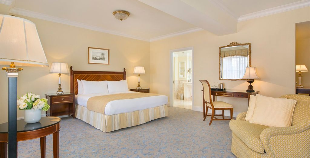 Where you'll stay in a Deluxe King Room