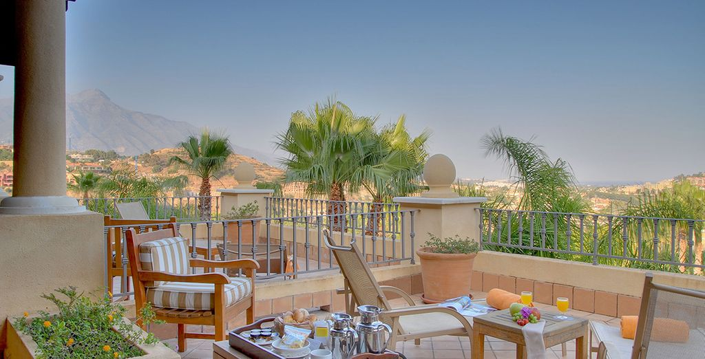 Enjoy breakfast out on the terrace - the perfect way to start your day
