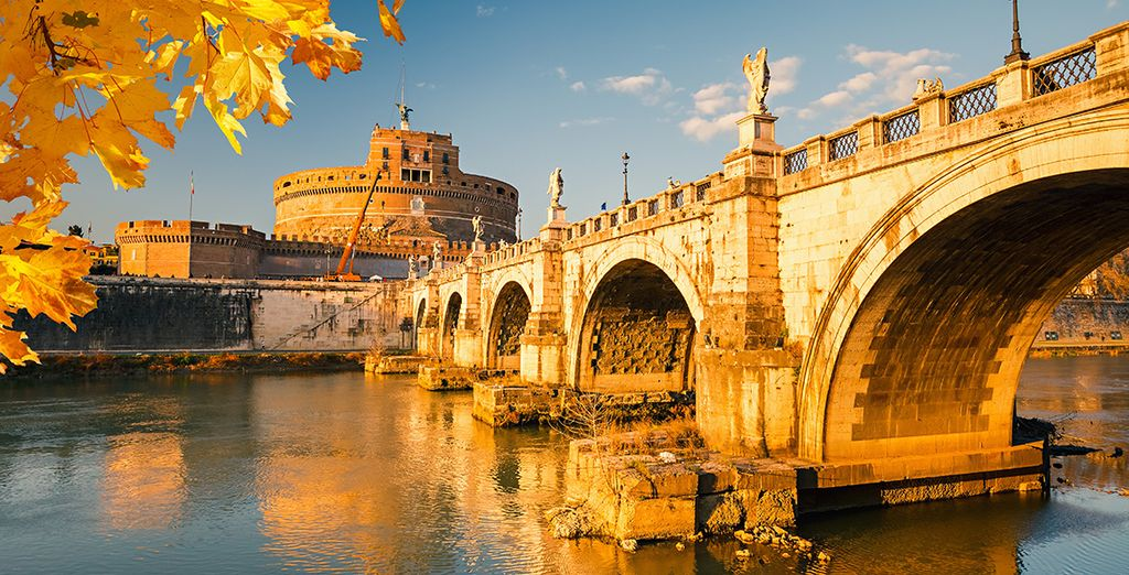 Stroll along the River Tiber, beautiful during the summer months