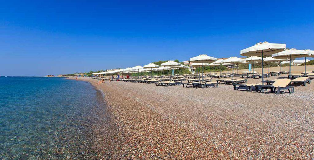 Enjoy a beachfront setting