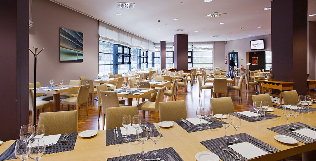 Dine in the hotel's restaurant