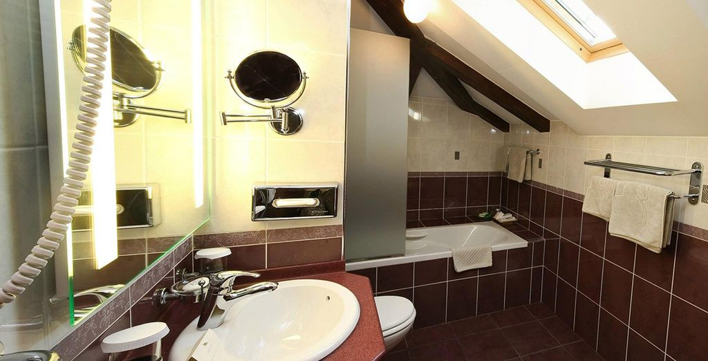 with luxury amenities