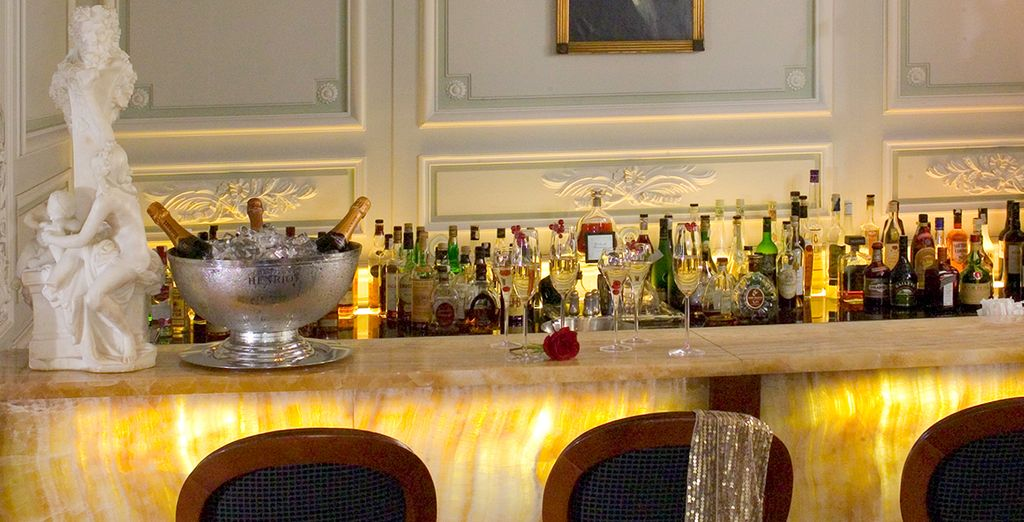 Enjoy a glass of sparkling wine on arrival
