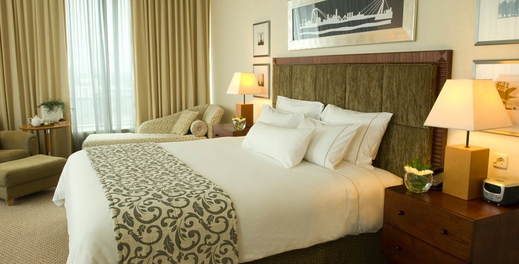 Where you will stay in an upgraded Executive Room