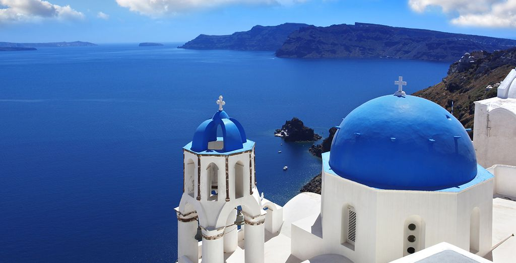 Head out to explore beautiful Santorini