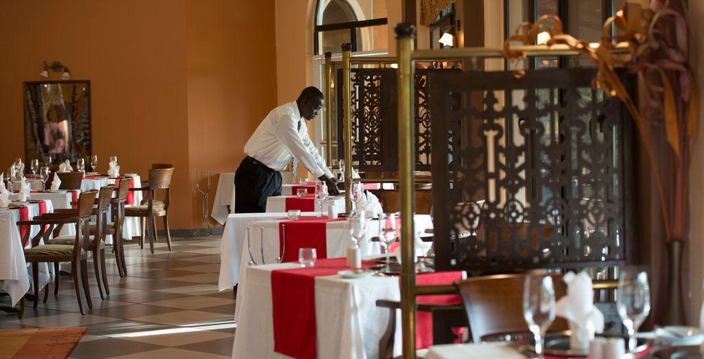 Enjoy fine dining indoors