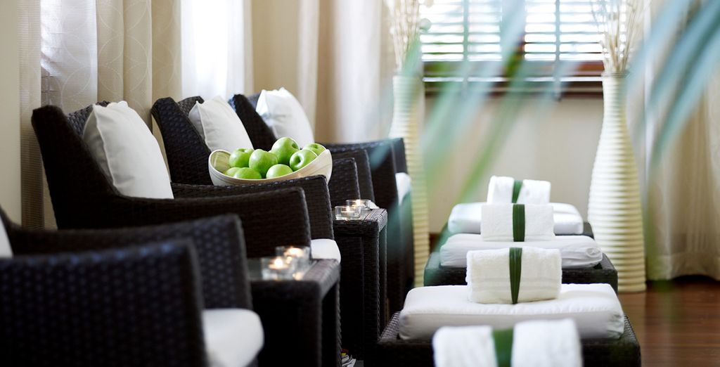 Then return for a relaxing treatment at the spa