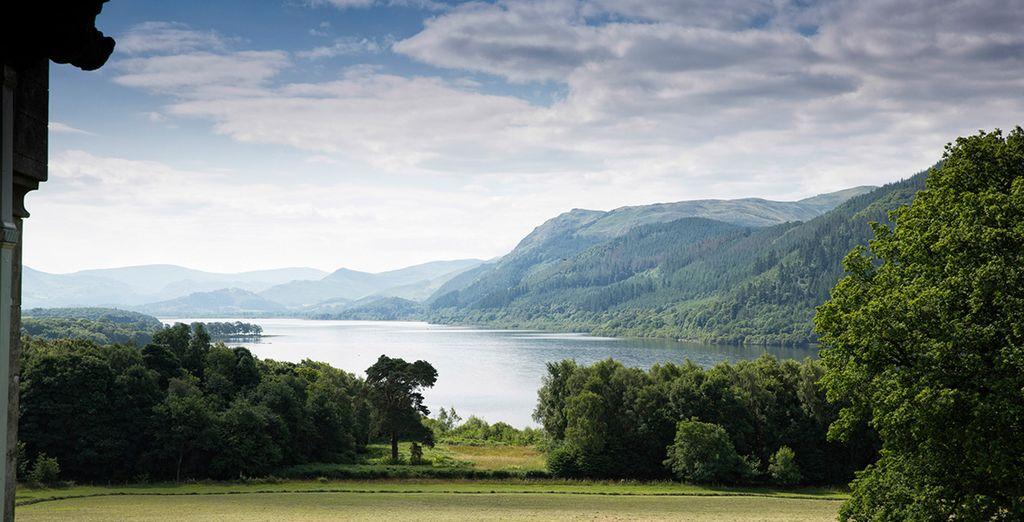 Whilst enjoying breathtaking views