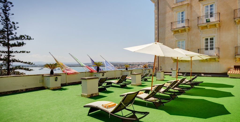Soak up some rays with a sea view