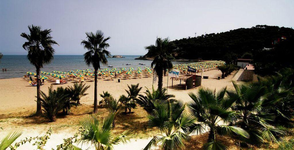 The hotel boasts a fantastic beachfront location