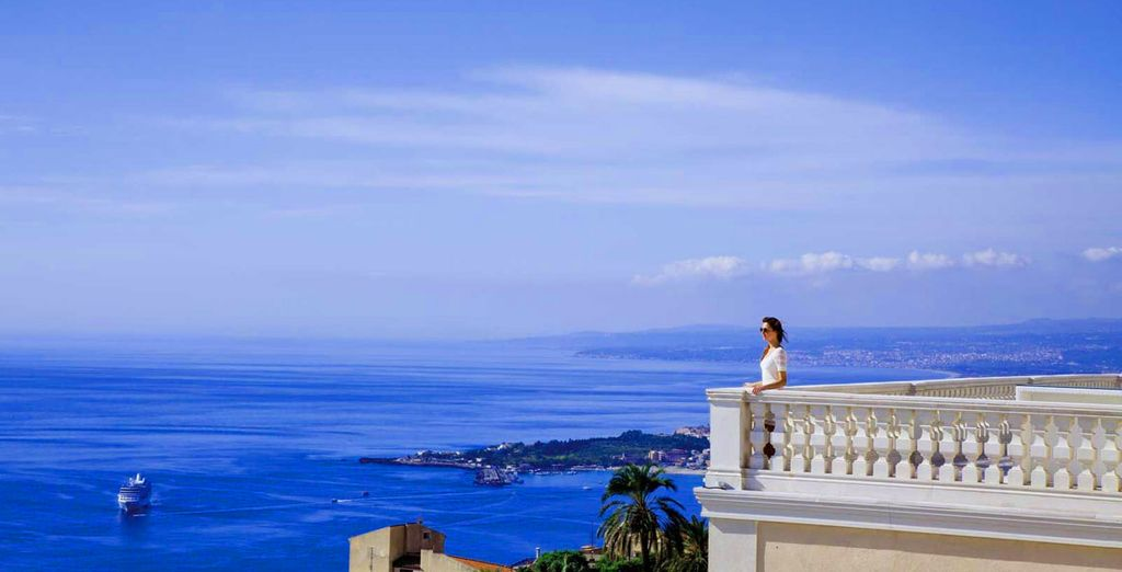 Admire the stunning views of Sicily