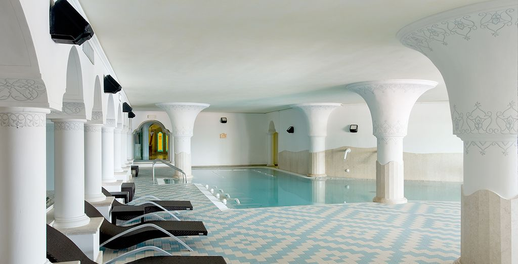 Then unwind with a dip in the spa pool