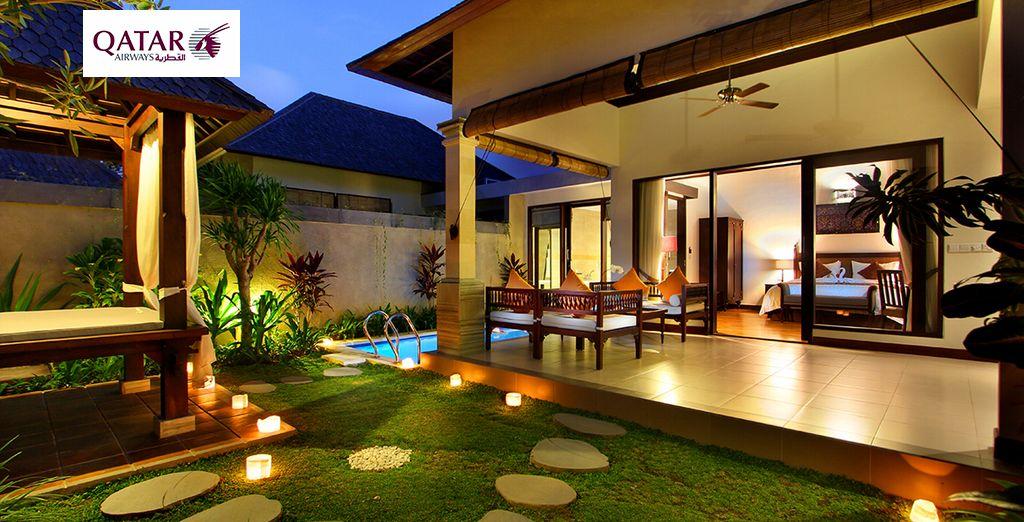 Cutting edge minimalist style oozes from Transera Grand Kancana Villas