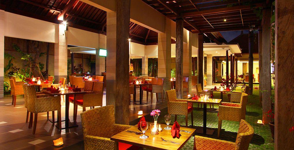 Visit the resort's restaurant