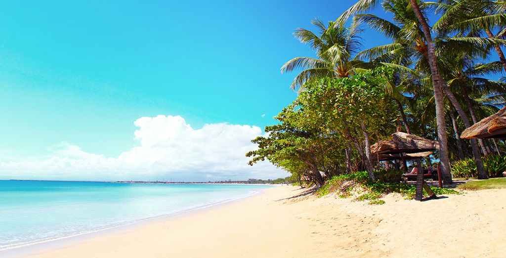 Blue skies and white sand... what more could you want?